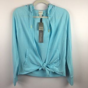 Zenergy by Chicos Viola Washed Tie Front Jacket 0